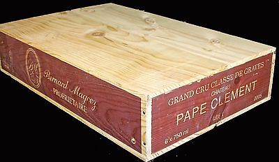 3 X French Flat Wooden Wine Crate Boxes -Retail Shop Market Museum Display Unit 2