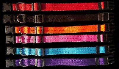 Dog Collar Nylon Adjustable Collars 4 sizes 6 colours UK Pet Accessories 2