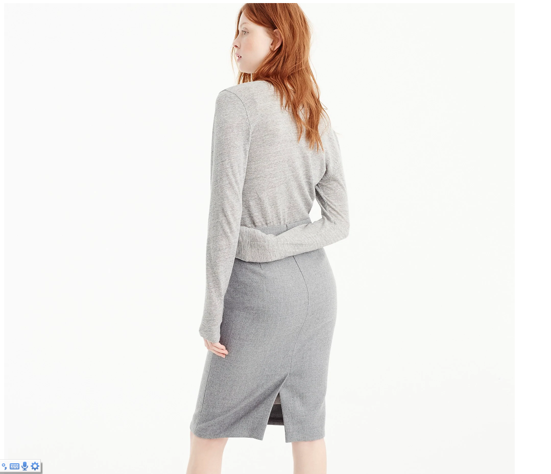 2 PENCIL SKIRT IN DOUBLE-SERGE WOOL NWT J CREW PETITE NO