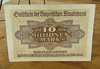 """B282 Germany 5 Million Mark 1923 Bavaria Munich /""""Bayerische Staatsbank/"""""""