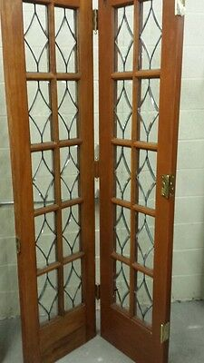Set Of Antique Bevel Glass Bi- Fold Doors 7