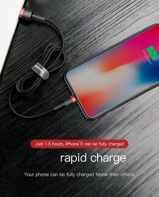 Baseus MFI Certified Fast Charging Lightning Data Sync Cable Apple iPad iPhone 9