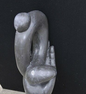Italian Marble Modernist Art Sculpture Hand Figurine Statue Abstract 6