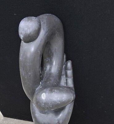 Italian Marble Modernist Art Sculpture Hand Figurine Statue Abstract 6