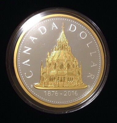 CANADA 2016 Renewed Library of Parliament 2oz & 1976 $1 Silver Dollar 2 Coin Set 2