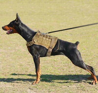 US Police K9 Tactical Training Dog Harness Military Adjustable Molle Nylon Vest 5