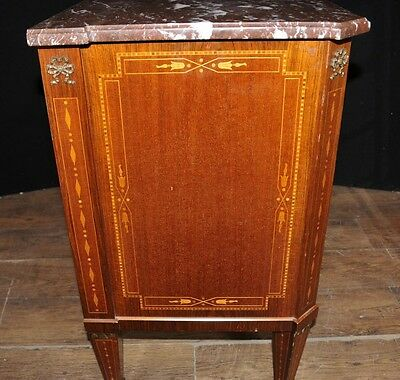 Antique French Empire Chest Drawers Commode Circa 1920 Marquetry Inlay 4