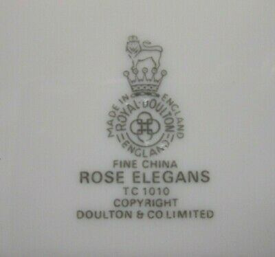 2 NEW & UNUSED Royal Doulton Rose Elegans Dinner Plates TC 1010 - more available 3