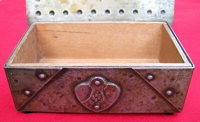 Antique Signed Scarce Small Hand Wrought Iron Box  By Goberg ~ Circa 1915 10