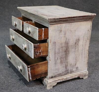 Rare Antique 1840s Era Salesmans Sample Painted Dresser Jewelery Box 7