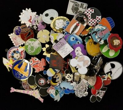 Disney Trading Pin 50 Lot No Doubles Hidden Mickey Limited Edition Free Ship 2