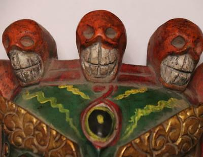 China Hand Art Carved Conventional Painted Wood Ghost Ghosts And Hods Mask 5