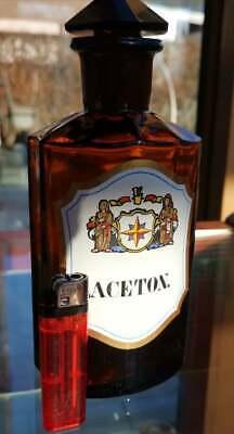 Apotheker - Altes, wunderschönes Apothekerglas - ACETON - Unikat 6