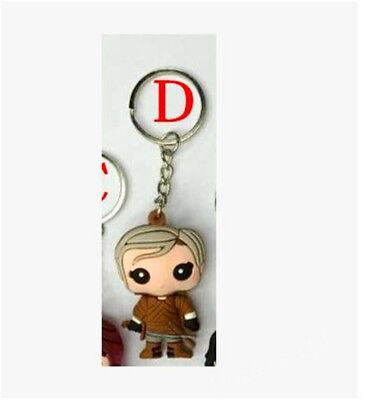 Game Of Thrones Pocket Daenerys Jon Snow Figure Keychain Hot 8