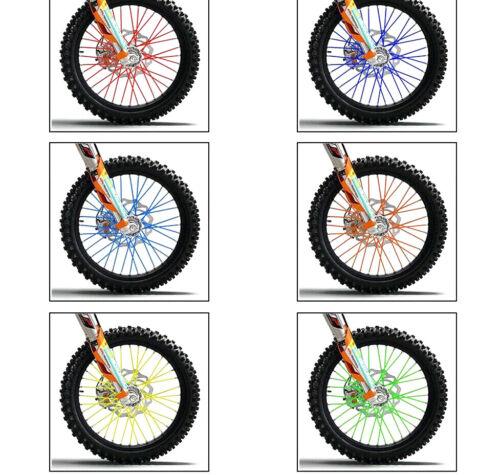 36/72pcs MTB WHEEL RIM SPOKE SHROUDS WRAPS SKINS COVERS - MOUNTAIN BIKE CYCLE UK 9
