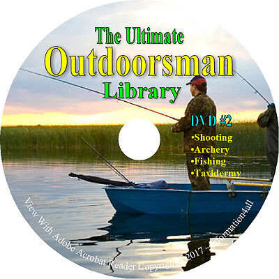 446 Books on DVD, The Ultimate Outdoorsman Library, Survival Trap Hunt Taxidermy 2