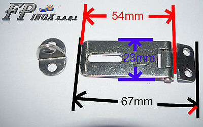 Fermeture Charnière Cadenas inox 67mm x 23mm