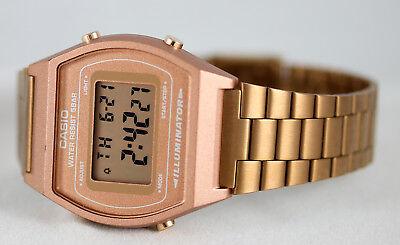 Casio Men's Rose Gold Stainless Steel Digital Flash Alert Watch B640WC-5A New 4