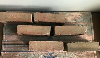 Antique OHIO Bricks 1-50 CLAY Early 1900s GARDEN Accent BOOKENDS PaperWeight