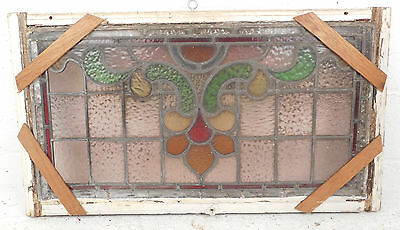 Vintage Stained Glass Window Panel (3205)NJ 2