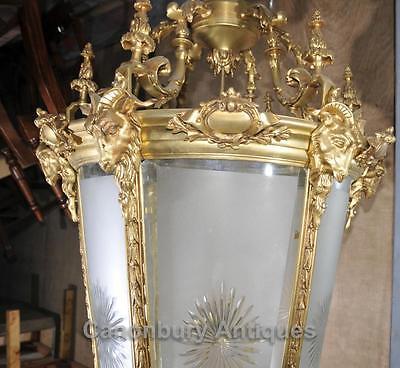XL French Empire Ormolu Lantern Light Chandelier Interiors Lighting 6