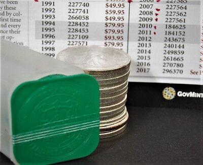 1991 1 oz Silver American Eagle BU Coin .999 fine US $1 Dollar Uncirculated Mint 7