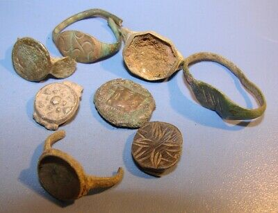 Ancient bronze fragments rings.  Middle Ages. Оriginal. 3