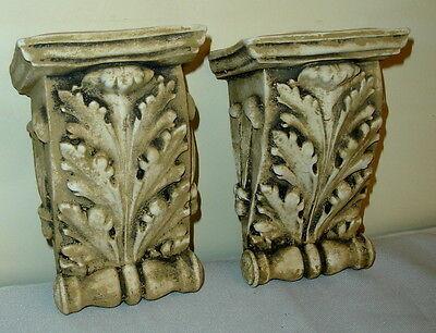 """Antique Finish Shelf Acanthus leaf plaster Wall Corbel Sconce Bracket 5.5"""" 2 • CAD $62.99"""