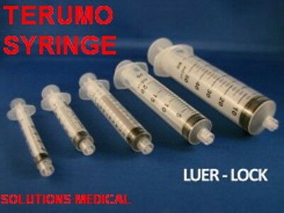 100 x 3ml Terumo Syringe Luer Lock - Hypodermic Needle / Medical / Diabetic 3