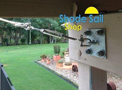 Shade sail accessories Turnbuckles, d shackles, eye bolts, pad eyes, snap hooks 2