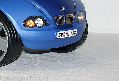 Bobby Car Kinderfahrzeuge kfz Kennzeichen Nummernschild 2 Wunschkennzeichen Für Bmw Baby Racer 2 Ii