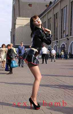 Sexy Scarpe Decolte Nero/Rosso doppio Plateau Tacco 15  n. 38 Fashion GLAMOUR ! 4