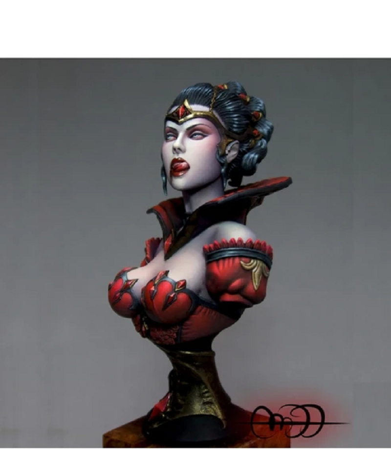 1//20 bust Princess model from resin disassembled and unpainted kit