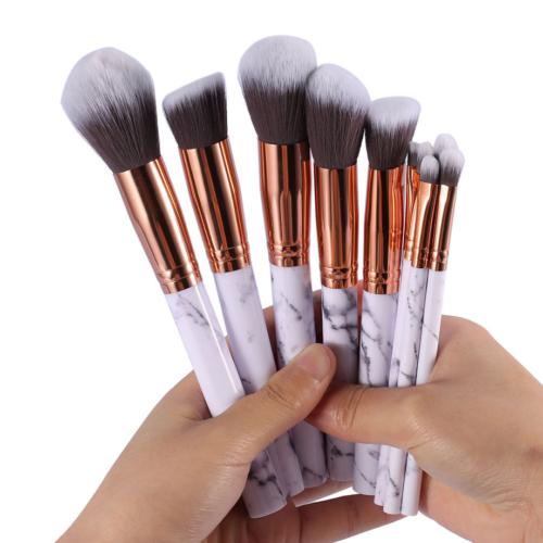 10pcs Kabuki Style Professional Make up Brush Set Foundation Blusher Face Powder 4