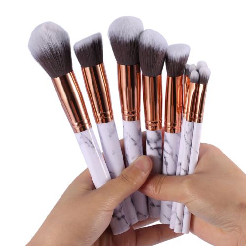 10pcs Kabuki Professional Make up Brushes Set Foundation Blusher Face Powder AU 4