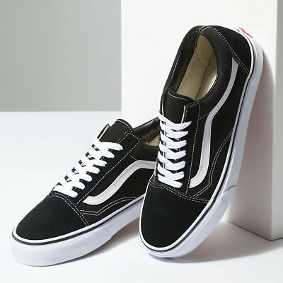 New Men and Women Vans Old Skool Black Skateboarding Shoes Classic Canvas Suede