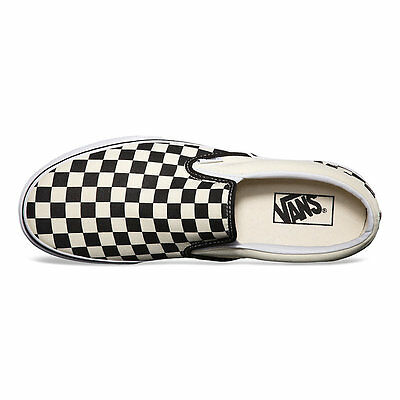 1 of 5 Vans CHECKERBOARD SLIP-ON BLACK OFF WHITE CHECK Canvas Classic Shoes  Fast Ship d72e09ffa