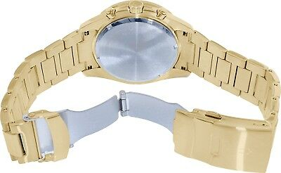 Bulova Marine Star Men's 98B250 Quartz Chronograph Black Dial Gold Tone Watch 3