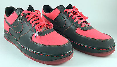 Nike Custom Nikeid Air Force 1 Reflective Black Pink Men S Size 17