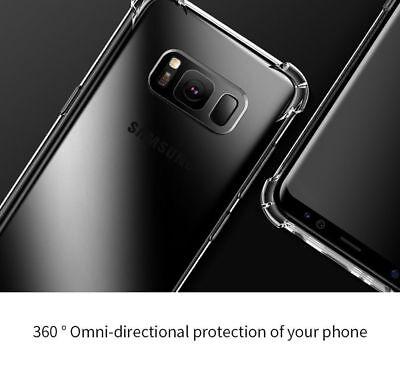 TPU Crystal clear 360°Soft Ultra thin Case Cover Samsung Galaxy S10 S7 Edge S8 + 3