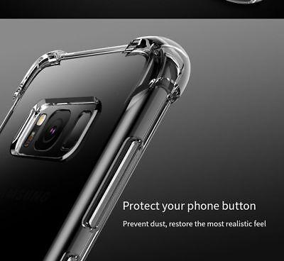 TPU Crystal clear 360°Soft Ultra thin Case Cover Samsung Galaxy S10 S7 Edge S8 + 5