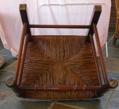 set 8 French Rustic Spindleback Chairs in Oak 9