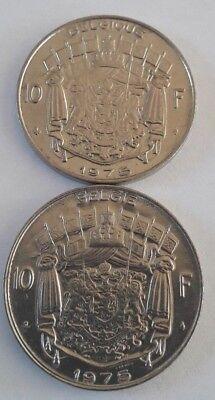 10 Francs, 10 Frank 1969 -1979 Belgique Belgïe Belgium Baudouin FR NL KM# 155 8