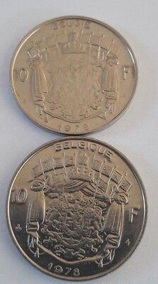10 Francs, 10 Frank 1969 -1979 Belgique Belgïe Belgium Baudouin FR NL KM# 155 11