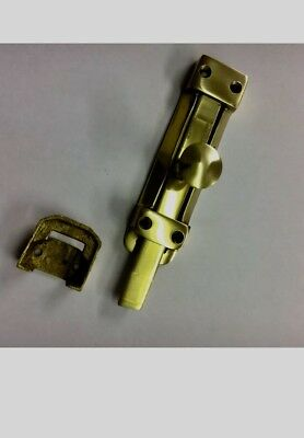 """Vintage 6"""" Flat Bolt Chrome Surface Slide Lock Barrel,slide Bolt For Doors .15cm"""