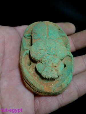 RARE Fabulous Winged Scarab Beetle Khepri God Of Protection Egyptian Antiquitie 4