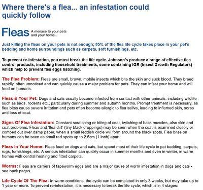 Johnsons 4Fleas Fogger 3 Cans - Flea Killer Bomb Household Spray Multipack AZ 3