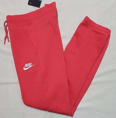 Nike Girl's Nsw Fleece Pants Tracksuit Bottoms Deep Coral 806326 645 -M / L / Xl 5