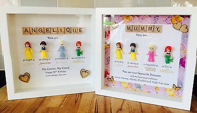 Personalised Picture Frame Lego Disney Princess Mini Figures Wedding Bridesmaid 23 99 Picclick Uk