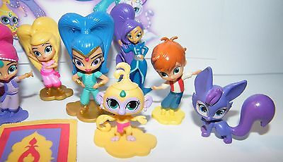 NICK JR  SHIMMER and Shine Party Favors Set of 17 with12 Figures and Genie  Gems